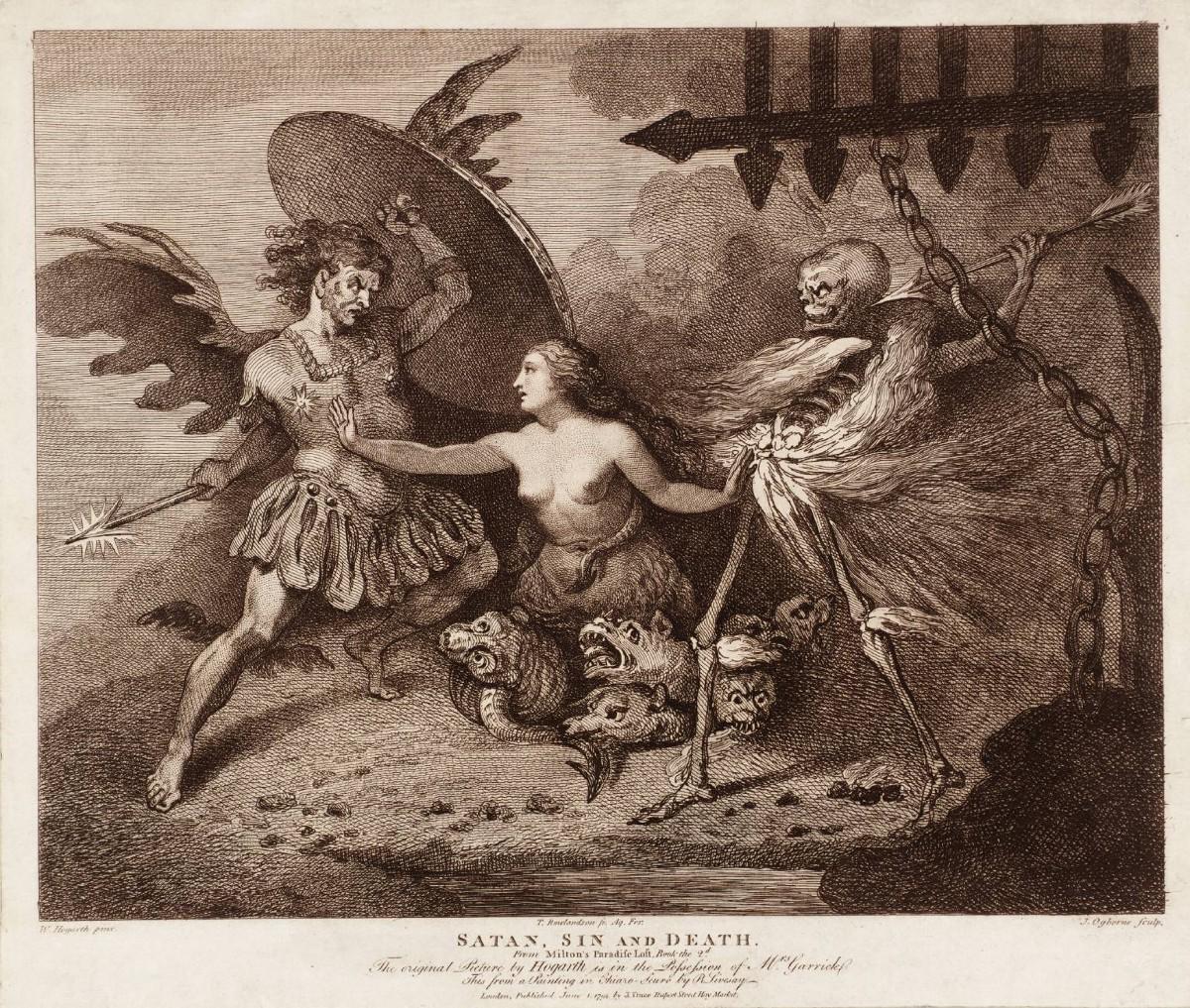 satan sin and death - milton