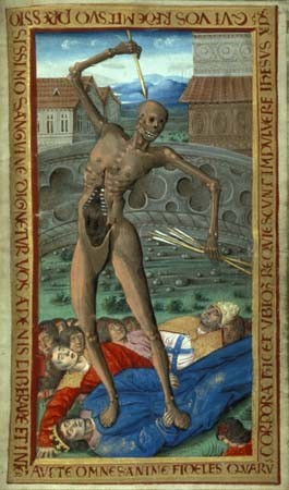 book of hours death 1495-1500